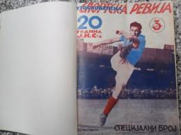 JUGOSLOVENSKA SPORTSKA REVIJA,1939,1949,1941 FOOTBALL, SPORTS NEWS FROM THE KINGDOM OF YUGOSLAVIA, BOUND 28 NUMBERS - Livres