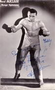 Autographe Original Signature Dédicace Sport Boxe Boxeur Marcel AUCLAIR Manager Oquinarenne - Autografi