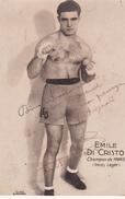 Autographe Original Signature Dédicace Sport Boxe Boxeur Emile DI CRISTO Champion De France Poids Léger - Autografi