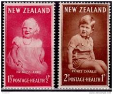 New Zealand 1952, Anne And Charles, Scott# B40-41, MNH - Gebraucht