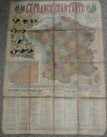 Ancienne Affiche LA FRANCE CHANTANTE 1913-1914, Recueil Paroles De Chanson, Portrait Des Présidents Français Carte Maroc - Partitions Musicales Anciennes