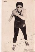Autographe Original Signature Dédicace Sport Boxe Boxeur Louis THIERRY Champion De France Poids Léger Zone Nord (2 Scans - Autografi