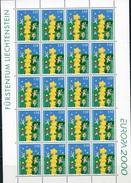 Liechtenstein, Europa 2000, Sheet - 2000