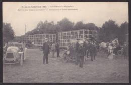 RENNES Aviation 1910 Arrivée Des Caisses Contenant Les Aéroplanes à L´aérodrome Des Gayeulles - Rennes
