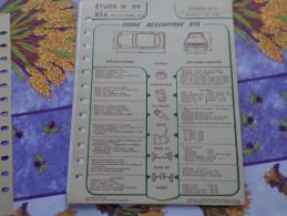 Fiche Technique Citroën DS ID 19 Break 1964 :format 21cm X 27cm - Automobile - F1