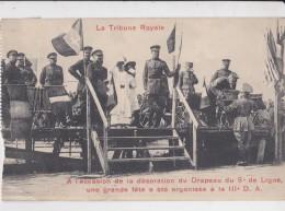 9 EME DE LIGNE DECORATION DU DRAPEAU PAR LE ROI ALBERT - Manifestations