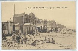 Bray-Dunes-La Plage-Les Cabines-(SÉPIA) - Bray-Dunes