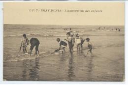 Bray-Dunes-L'amusement Des Enfants-(SÉPIA) - Bray-Dunes