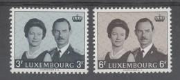 PAIRE NEUVE DU LUXEMBOURG - AVENEMENT DU GRAND-DUC JEAN : PORTRAIT DU COUPLE N° Y&T 652/653 - Familles Royales