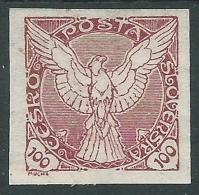 1920 CECOSLOVACCHIA FRANCOBOLLI PER GIORNALI 100 H MH * - CZ7 - Newspaper Stamps