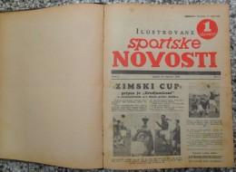 ILUSTROVANE SPORTSKE NOVOSTI,1936 ZAGREB FOOTBALL, SPORTS NEWS FROM THE KINGDOM OF YUGOSLAVIA, BOUND 46 NUMBERS - Livres