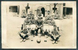 1933 British Army Football Team RP Postcard - Regiments