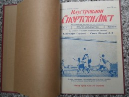 ILUSTROVANI SPORTSKI LIST, NOVI SAD 1931 FOOTBALL, SPORTS NEWS FROM THE KINGDOM OF YUGOSLAVIA, BOUND 9 NUMBERS - Livres