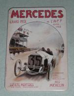 Rare Magnet Décor Affiche Publicitaire Ancienne MERCEDES BENZ Grand Prix De L'ACF Dieppe 1908 Pneu Michelin, Automobilia - Magnets