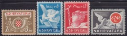 5012. Croatia NDH 1944 For Postal And Railway Workers, MNH (**) Michel 150-153 - Croatie