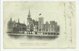 ESPOSIZIONE DE 1900 - PAVILLONS ETRANGERS BELGIQUE - NORWEGE - ALLEMAGNE - ESPAGNE VIAGGIATA FP - Exhibitions