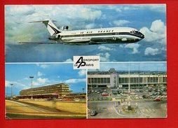 Les Aérogares D'ORLY-Sud Et Du Bourget - Avion Boeing 727 Air France - Aéroports De Paris