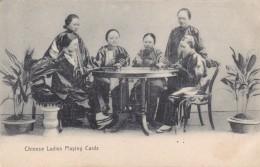 CHINA  ORIGINAL OLD POST CARD LADIES PLAYING CARDS - Cina