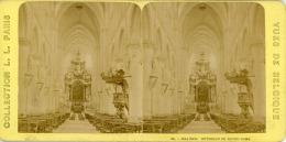STEREO, Belgique, Malines, Intérieur De Notre-Dame Vintage Stereo Card  Tirage Albuminé   8,5x17   Circ - Photos Stéréoscopiques