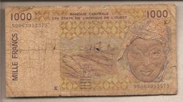 Senegal - Africa Occidentale - Banconota Circolata Da 1000 Franchi - 1999 - Senegal