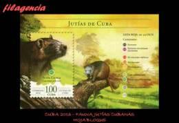 AMERICA. CUBA MINT. 2016 FAUNA. JUTÍAS DE CUBA. HOJA BLOQUE - Neufs