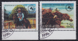 5017. Yugoslavia 1996 Ljubicevo Horse Games, Used (o) Michel 2785-2786 - Oblitérés