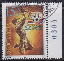 5021. Yugoslavia 1996, 100 Years Of Football In Serbia, Used (o) Michel 2798 - Oblitérés