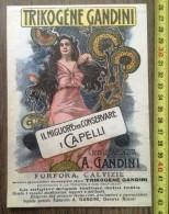 PUBLICITE 1900 TRIKOGENE GANDINI CAPELLI GENOVA MARASSI - Collezioni