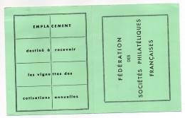 """Erinnophilie--Carte Cotisations """"Fédération Des Sociétés Philatéliques--avec Vignettes-1993--1994-- - Commemorative Labels"""