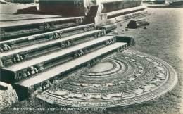 CEYLON - Moonstone And Steps - Anuradhapura - Sri Lanka (Ceylon)