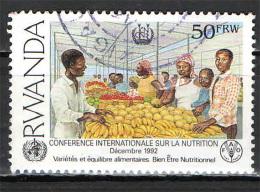 RWANDA - 1992 - CONFERENZA INTERNAZIONALE SULLA NUTRIZIONE - USATO - Rwanda