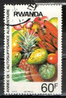 RWANDA - 1987 - FRUTTA TROPICALE - USATO - Rwanda