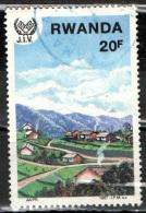 RWANDA - 1987 - CASE MODERNE - USATO - Rwanda