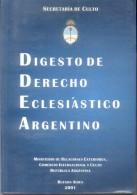 DIGESTO DE DERECHO ECLESIASTICO ARGENTINO - SECRETARIA DE CULTO - 493 PAGINAS RARE AGOTADO - Droit Et Politique