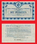 Andorra 10 Pesetas 1936  UNC -   COPY - REPLICA -   REPRODUCTION - Andorre