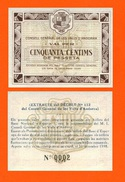 ANDORA 50 Centims Andorra 1936  UNC --  COPY - REPLICA -   REPRODUCTION - Andorra