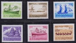 5022. Albania 1965 Ships - Sailboats - Transport, MNH (**) Michel 1004-1009 - Albanie