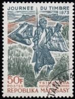 MADAGASCAR (Malagasy) - Scott #487 Tsimandoa Mail Carrier / Used Stamp - Madagaskar (1960-...)