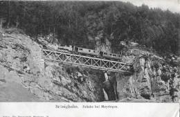 BRÜNIGBAHN → Dampfzug Auf Der Brücke Oberhalb Meiringen Anno 1906 - BE Bern