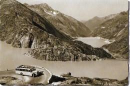 GRIMSELSTRASSE → Altes Offenes Saurer-Postauto Am Grimselstausee , Ca.1950 - BE Bern