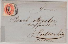 Österreich/Mähren - 5 Kr. Ausg. 1860, Brief K1 M. Ostrau - Hultschin/PREUSSEN - Briefe U. Dokumente