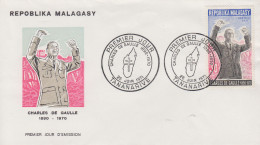 Enveloppe  FDC  1er  Jour   MADAGASCAR    GENERAL  DE   GAULLE      1971 - De Gaulle (Général)