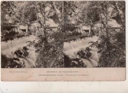 CARTE STEREO   Excursion En Franche Comté Arcier Besançon ( Doubs ) Cascades Du Vieux Moulin - France