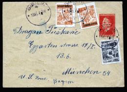 A4253) Yugoslavia Jugoslawien Brief Von Ogulin 15.11.50 Nach München - 1945-1992 Socialist Federal Republic Of Yugoslavia