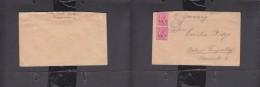 Tanganyika WW I, Cover From Daressalaam 2x IEF 1 A, PASSED CENSOR C  E.A. (Hoffman 20) > Germany - Kenya, Uganda & Tanganyika