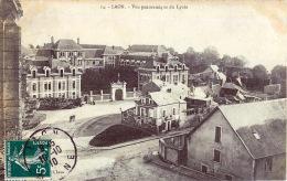 02 LAON VUE PANORAMIQUE DU LYCEE - Laon