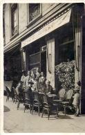 CARTE PHOTO CAFE DU PARC DEVANTURE COMMERCE BAR - Postales