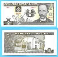 Cuba 1 Peso 2003 Commemo Neuf UNC Skrill Paypal OK Jose Marti Kuba Pesos - Cuba