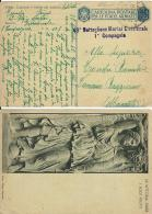 FRANCHIGIA WWII POSTA MILITARE 101 1942 ARGIROCASTRO ALBANIA X CAMERINO - 1900-44 Victor Emmanuel III.