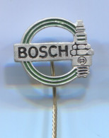 BOSCH, Spark Plug, Zundkerze - Car Auto, Automotive, Vintage Pin, Badge, Abzeichen - Pin's